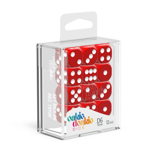 Solid Red 36 x D6 Dice