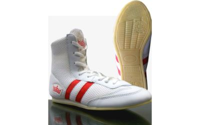 Boxing Boot Wrestling Martial Arts  White /Red Unisex Adult & Junior
