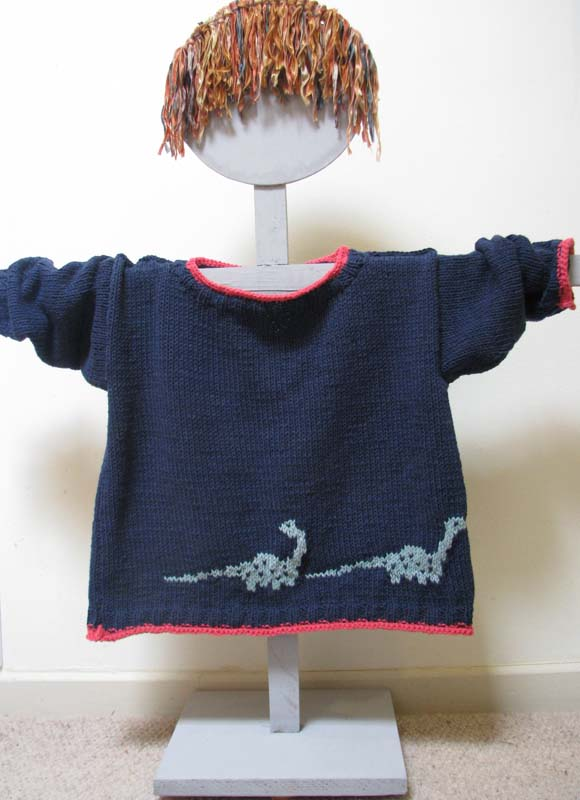 Knitting pattern - dinosaur sweater