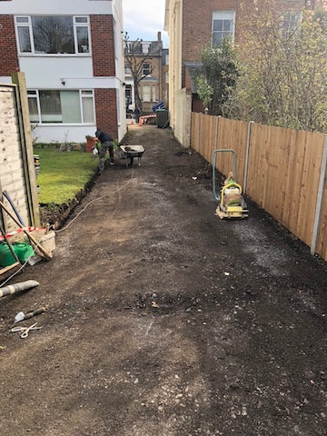 Driveway to lock up garages before remedial work